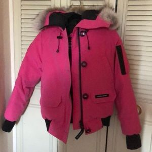 Hot pink Canada goose jacket